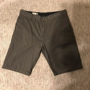 "Volcom ""Frickin Chino Shorts"". Charcoal Heather 34"